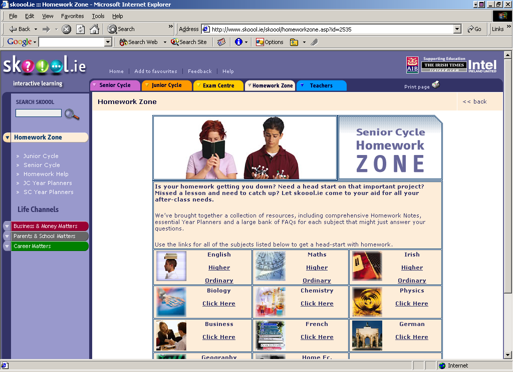 skoool ie homework zone