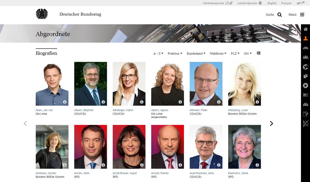 Bundestag - Biografien