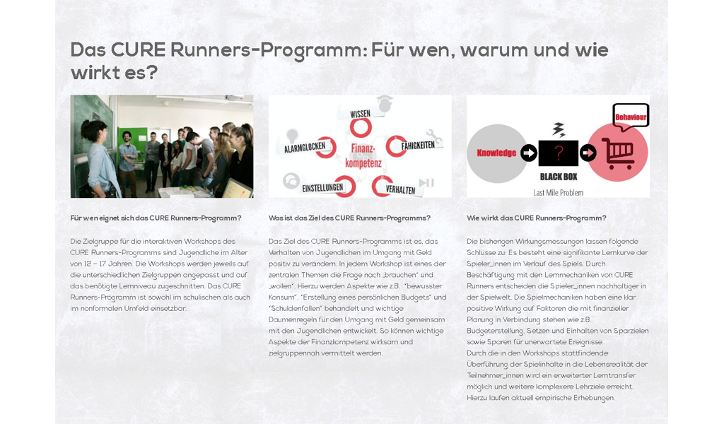 CureRunners - Program