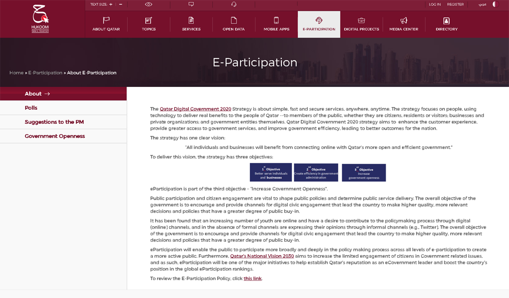 Qtar - E participation