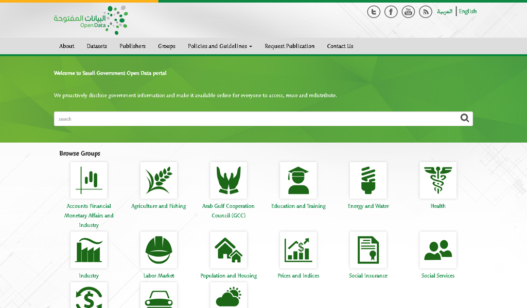 Saudi e-Gov - Open data