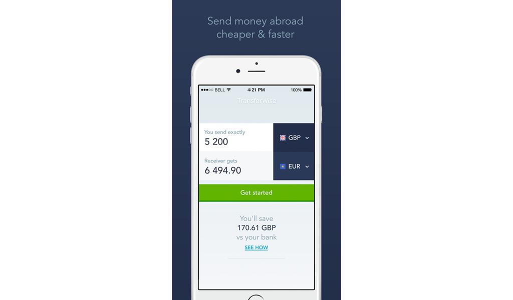 TransferWise - App 1