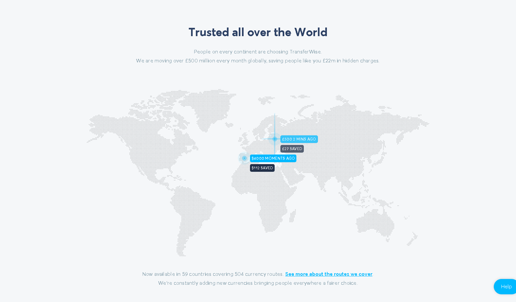 TransferWise - Map