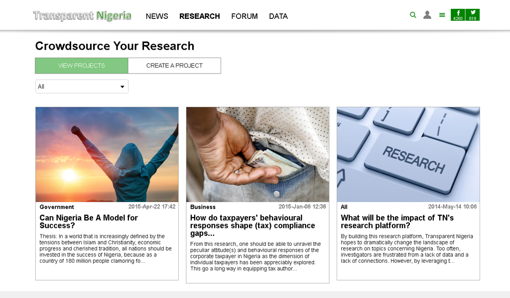Transparent Nigeria - Research