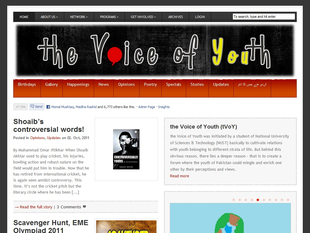 the Voice of Youth 1