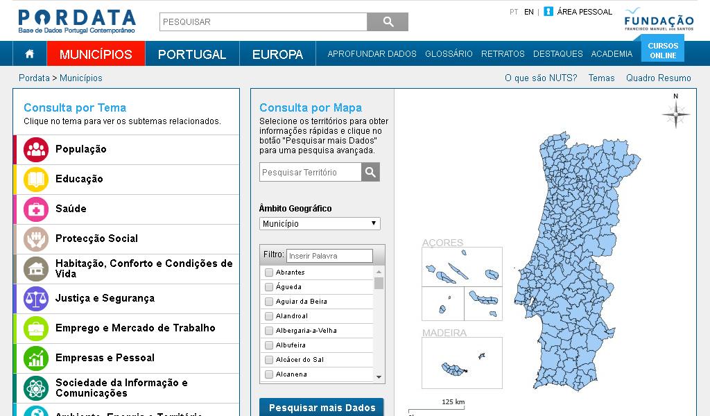 Pordata - Map