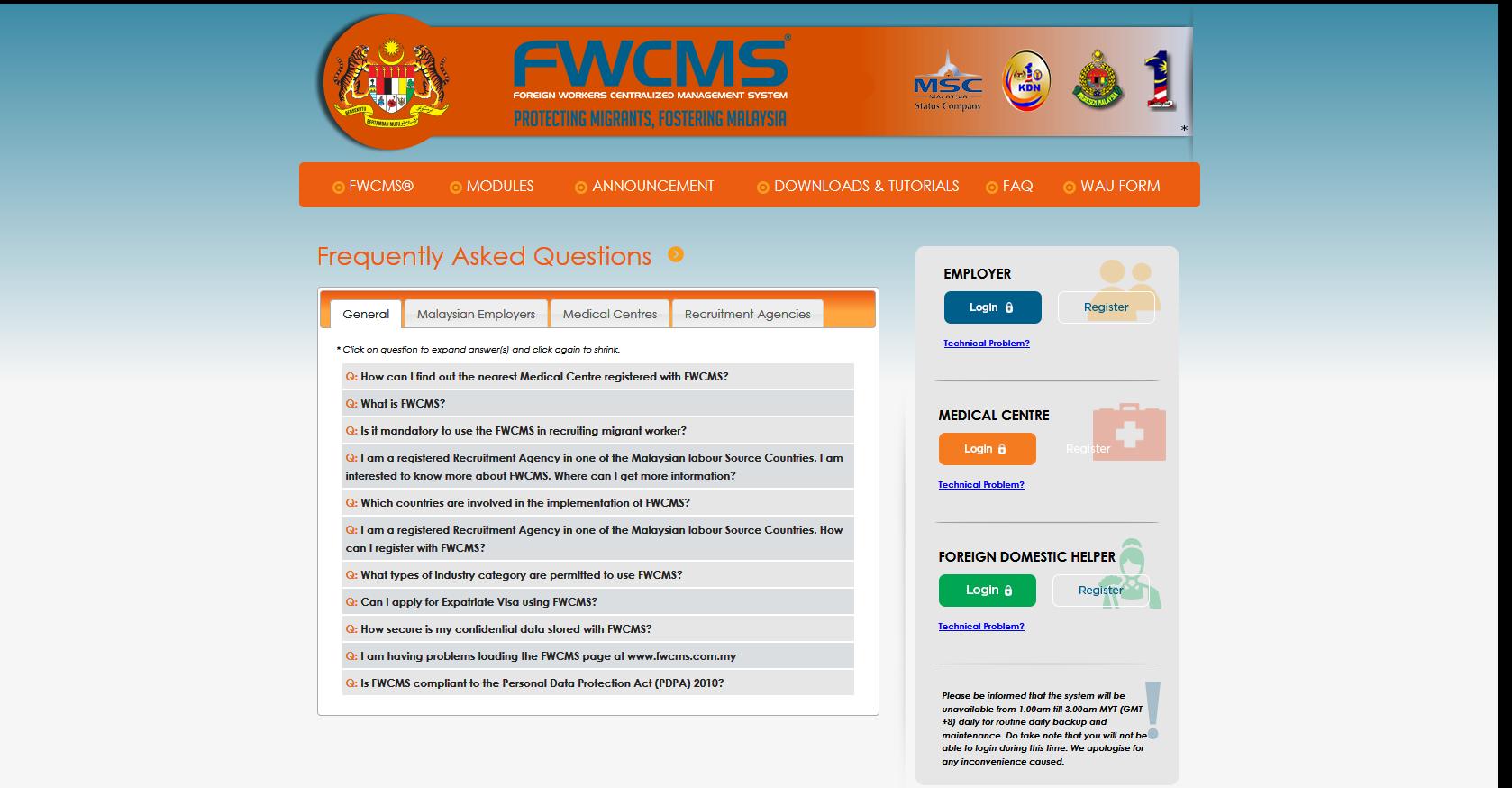 FWCMS - FAQ