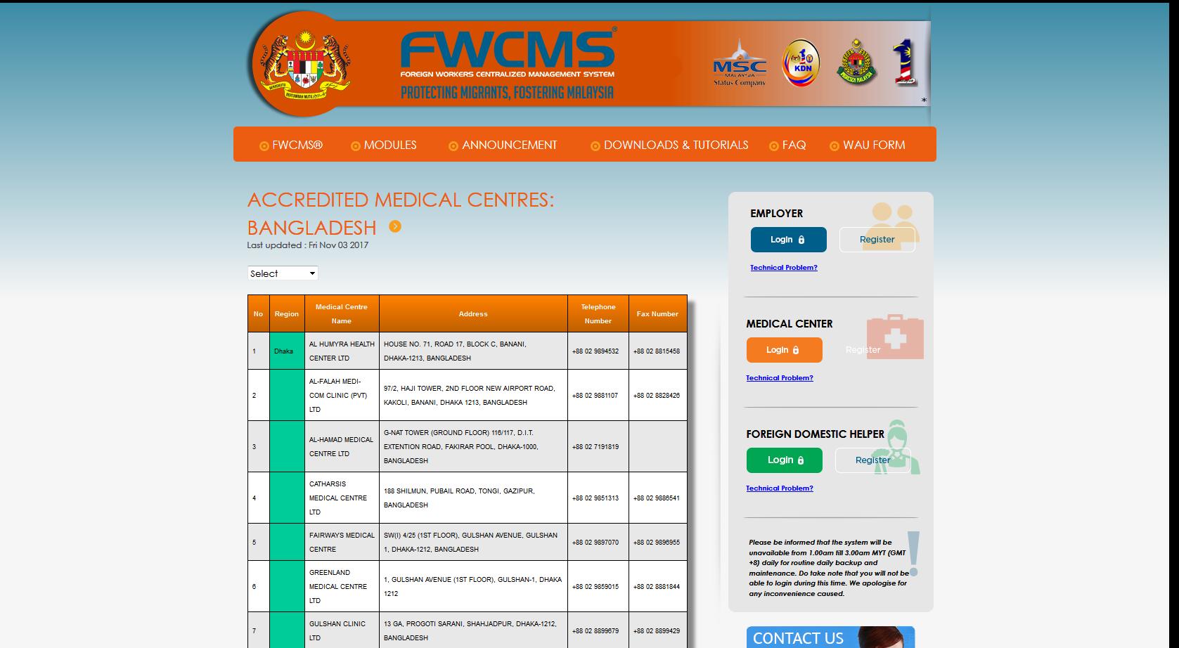 FWCMS - List