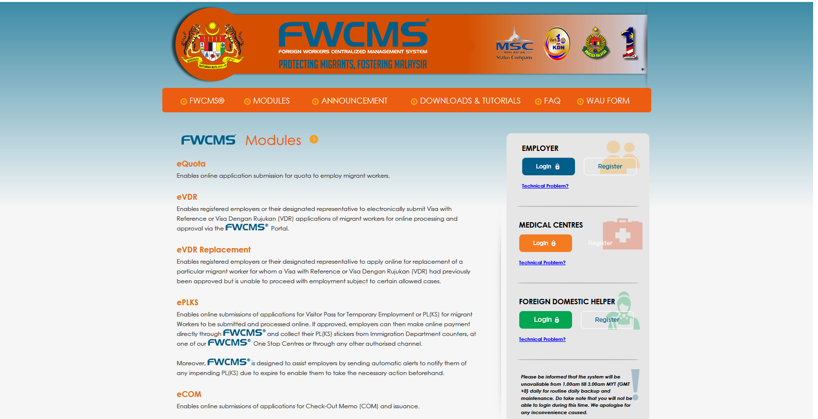 FWCMS - Modules
