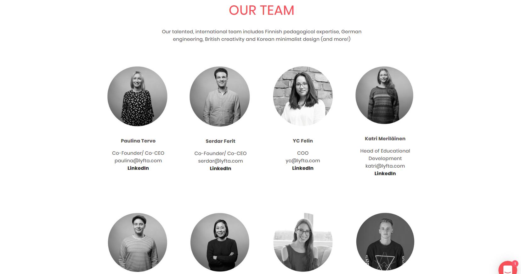 Lyfta - Team