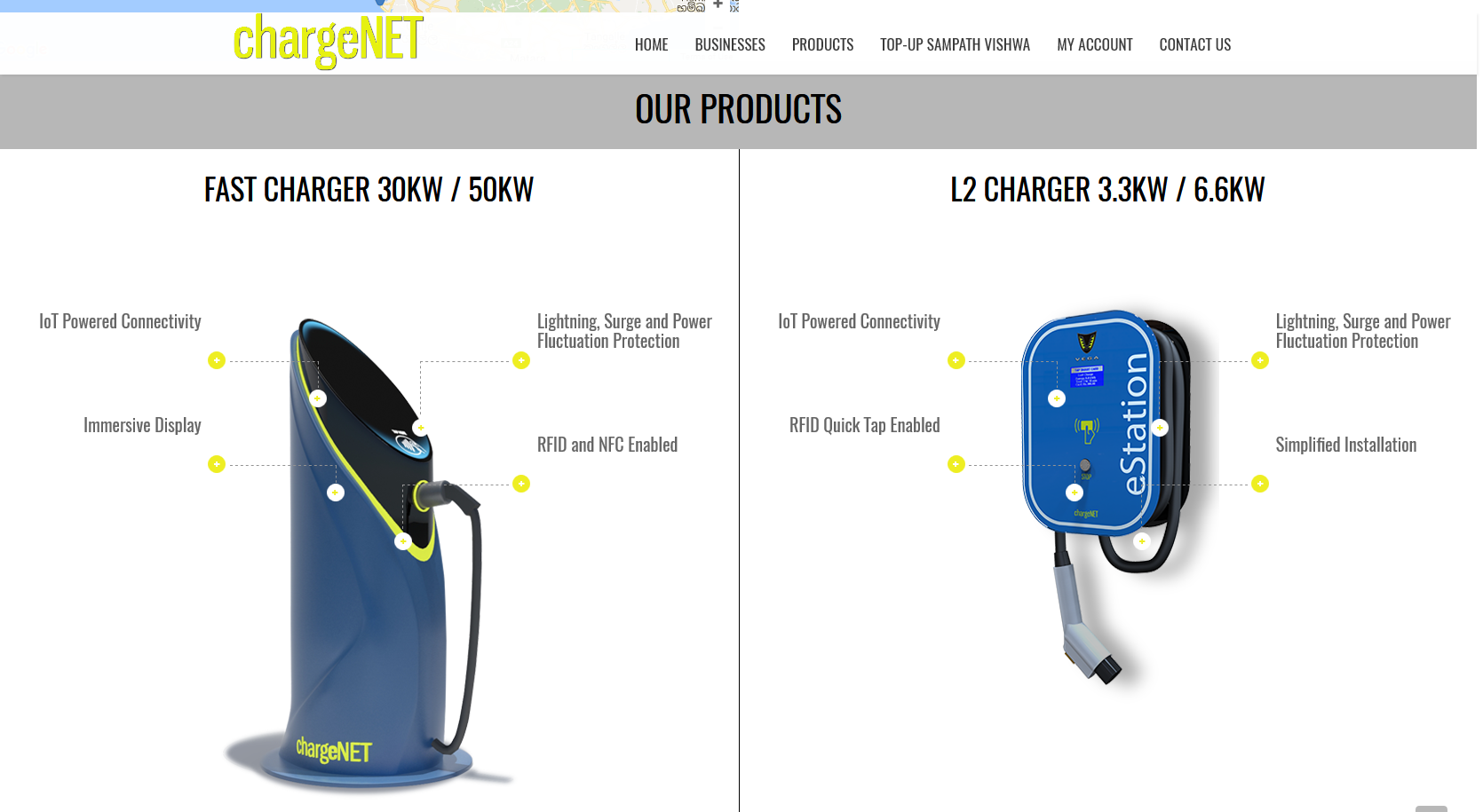 chargeNET - Products