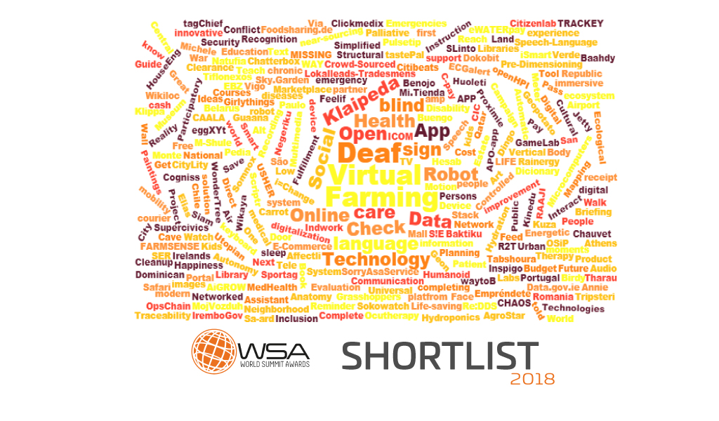 LEADING CHANGE WITH DIGITAL CONTENT - HERE IS THE WSA SHORTLIST 2018